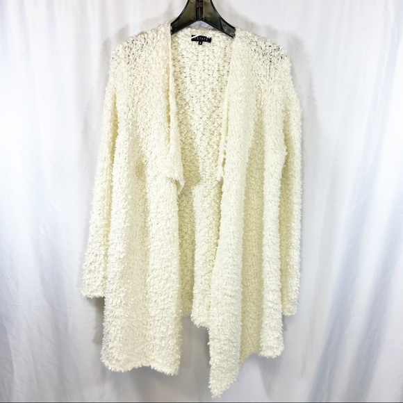 1. State Sweaters - SALE 🔥 1 State cream fuzzy cardigan